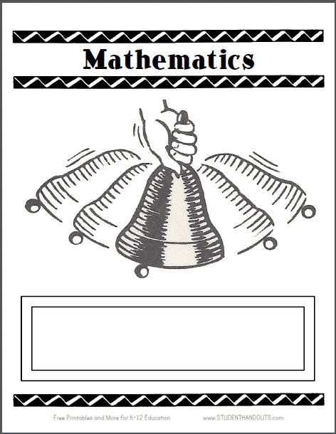 9 best mathematics images on pinterest kindergarten mathematics this free printable template sheet is for use as the cover of your mathematics three ring binder it can do double duty as a classroom door sign pronofoot35fo Gallery
