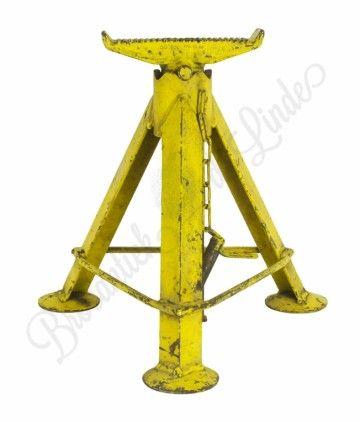 """Vintage onderstel """"Geel"""" voor industriële kruk / tafel in hoogte verstelbaar"""