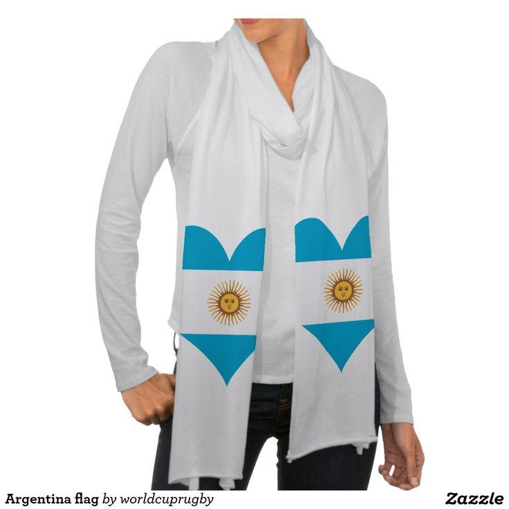 Argentina flag scarf wrap