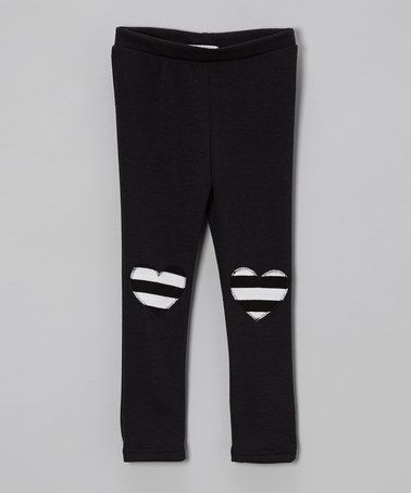Take a look at this Black & White Heart Leggings - Toddler & Girls by Sofi on #zulily today!
