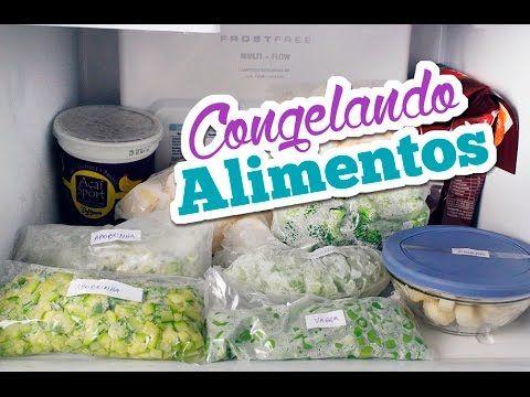 Como congelar alimentos saudáveis | Rotina de dona de casa | Comprando Meu Apê