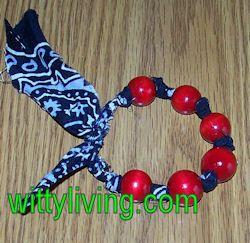 cowgirl party crafts | bandana bracelet western kids craft project