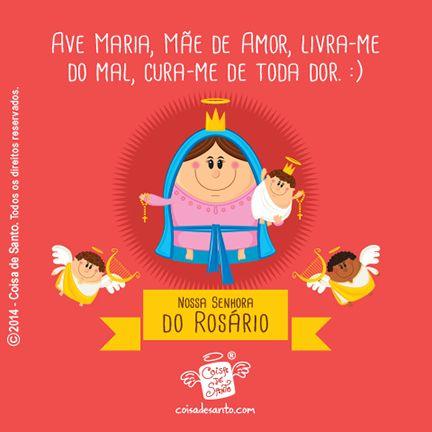 Nossa Senhora do Rosário, rogai por nós! #coisadesanto #virgemmaria