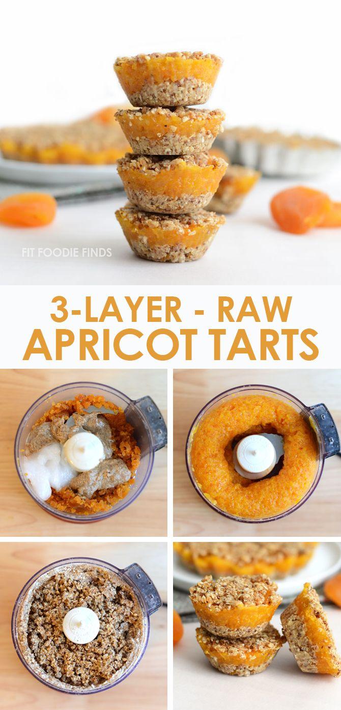 3-Layer Raw Apricot Tarts - Vegan