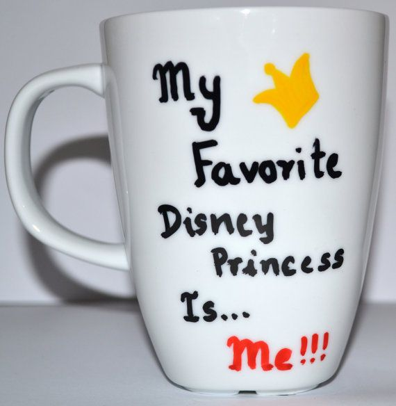Disney Princess Mug  Can be personalized  Funny by DreamAndCraft, $15.00