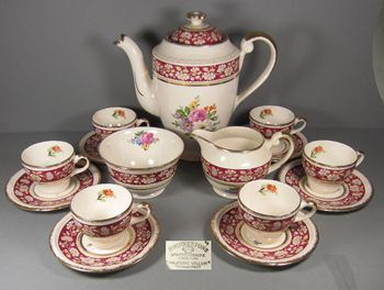 SWINNERTONS MAJESTIC VELLUM COFFEE SET - had to pin in just for the name of the pattern!