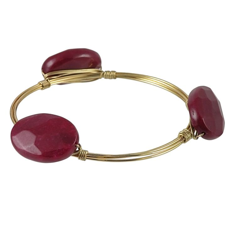 Garnet Wire Wrap Bangle from HandPicked