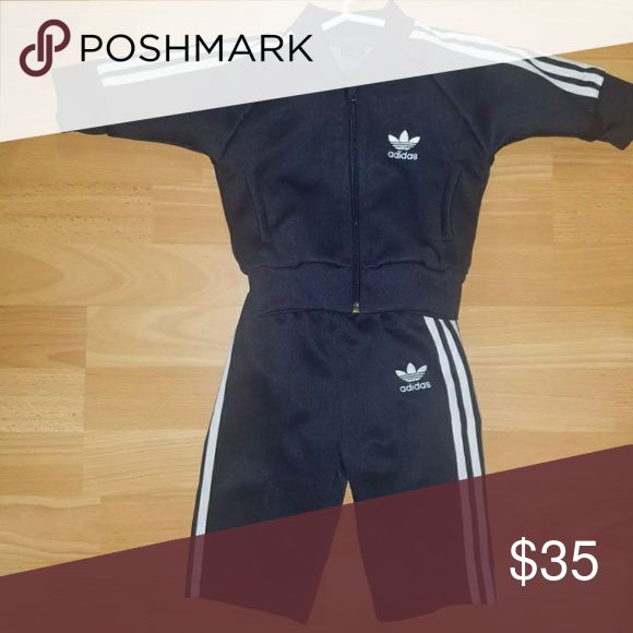 Baby Adidas tracksuit Size 6-9 months. Navy Blue. Only wore once and washed and hung to dry! Excellent condition! adidas Matching Sets