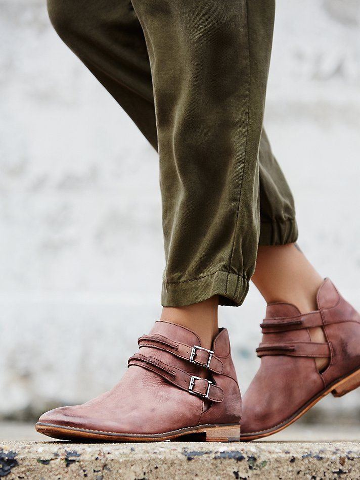Free People Braeburn Ankle Boot, $168.00...don't generally like multiple buckles but there's something about these little boots that...almost