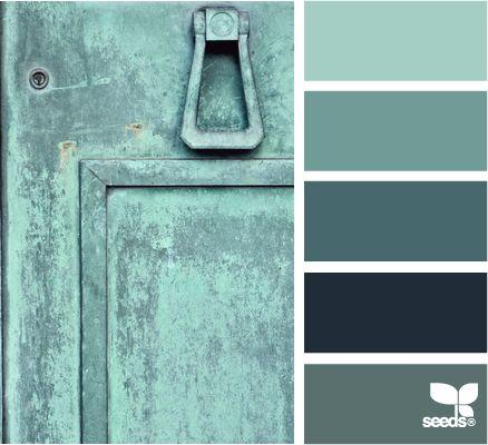 Color: Teal Tones by Design Seeds - light teal, medium teal, dark teal, midnight blue, slate blue.