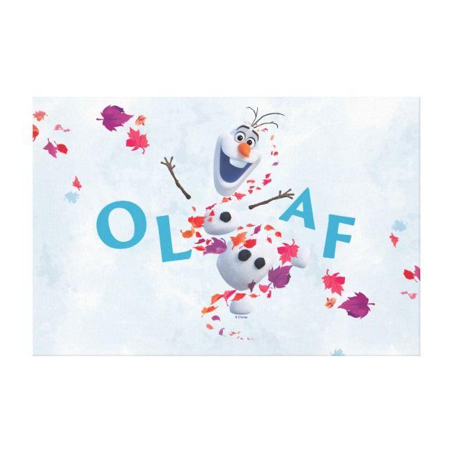 Frozen 2 Olaf In The Breeze Canvas Print Zazzle Com Canvas Prints Canvas Print