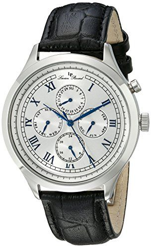 Men's Wrist Watches - Lucien Piccard Mens LP10333023S Besana SilverTone Watch with Black Band ** Read more reviews of the product by visiting the link on the image.