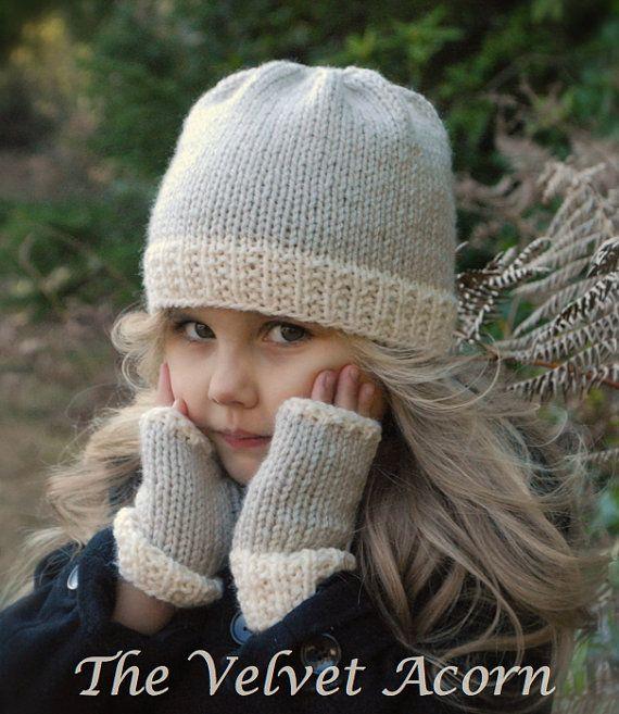TEJER PATTERNThe Lyla sombrero/Mitt Set niño por Thevelvetacorn