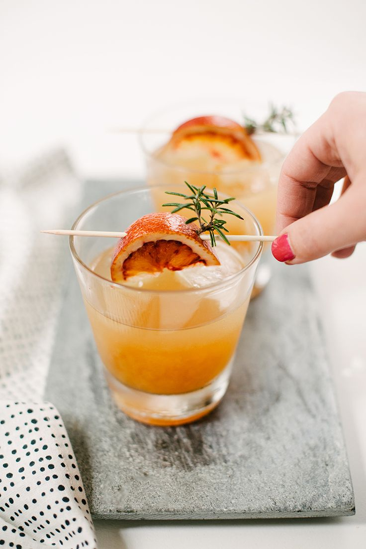 Whiskey Sours with Homemade Sour Mix (just a mix of citrus juices), single drink and batch instructions |  A Practical Wedding