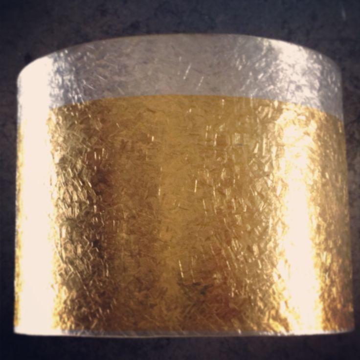 Sterling silver, pure gold cuff