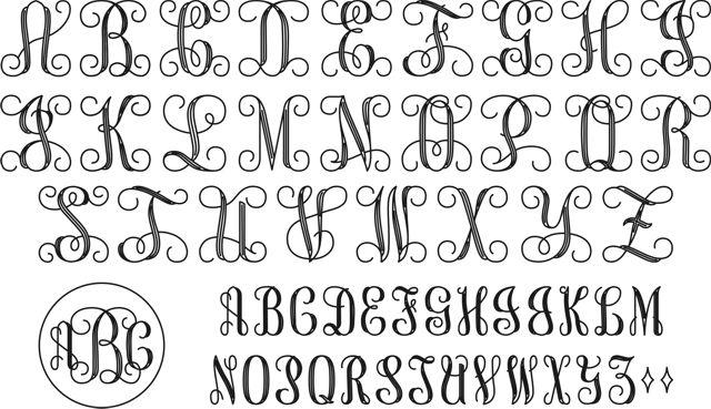 interlocking monogram script
