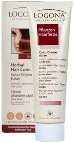 logona herbal hair colour cream tizian suitable for medium blonde to medium brown hair - Logona Color Creme