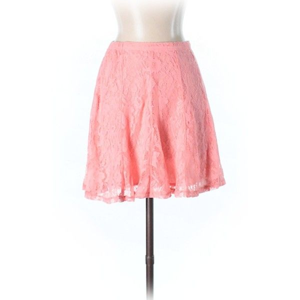Hollister Casual Skirt ($12) ❤ liked on Polyvore featuring skirts, light pink, red skirts, long red skirt, red maxi skirt, light pink skirt and light pink maxi skirt