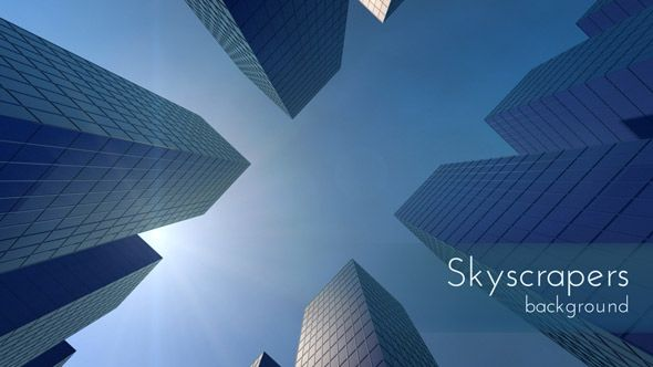 Skyscrapers Motion Background, Daily project 3d design.
