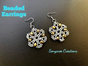 Beaded Earrings.How to make beaded Earrings Such an Awesome Tutorial – YouTube