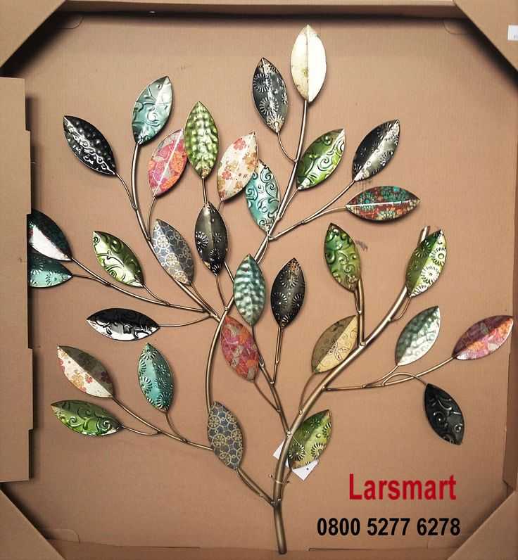 Leaves wall art 61cm x 65cm, $50