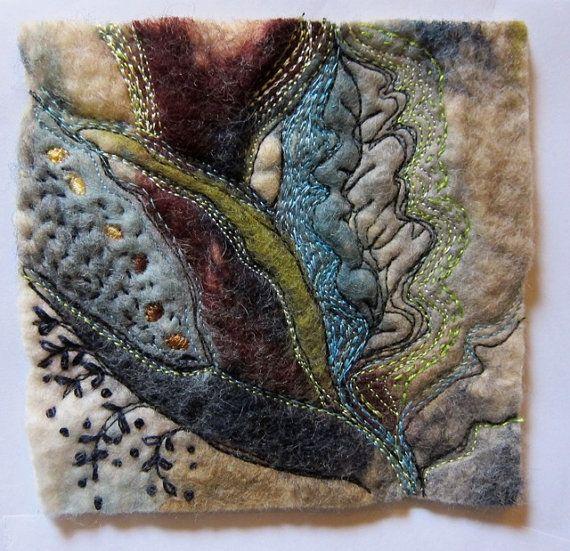 sumptuous miniature textile art by Jackie Cardy