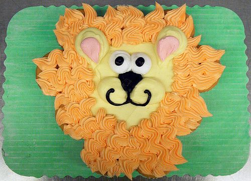 happy new year cakes designs | Lion CupCake - cupcakeninja