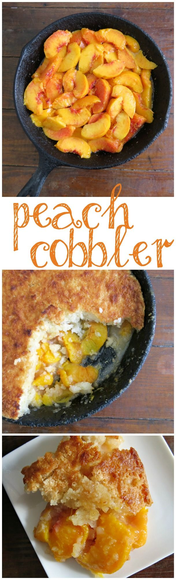 Easy Skillet Peach Cobbler Recipe - Written Reality                                                                                                                                                                                 More