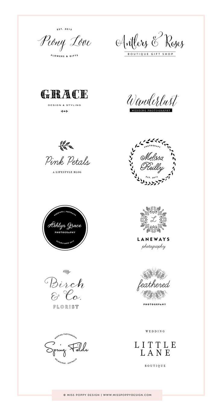 Miss Poppy Design- Pre Designed Logos www.misspoppydesign.com