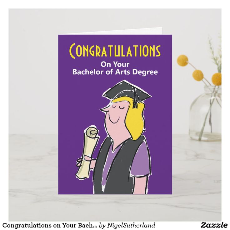 Congratulations on your bachelor of arts degree card