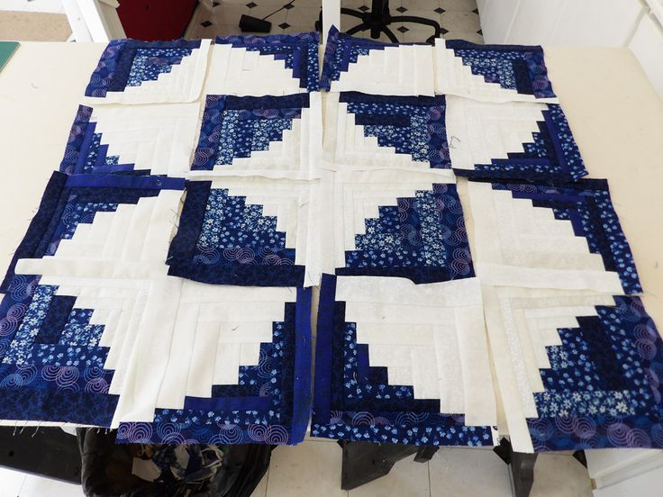 curved log cabin quilt layouts | knew what I wante…