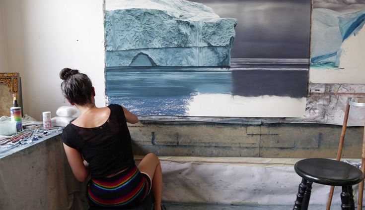 Perspective: Artist Zaria Forman Shares the Inspiration behind Her Large Scale Pastel Waves and Icebergs