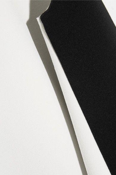 Roksanda - Fuji Two-tone Cady And Crepe Mini Dress - Black - UK10