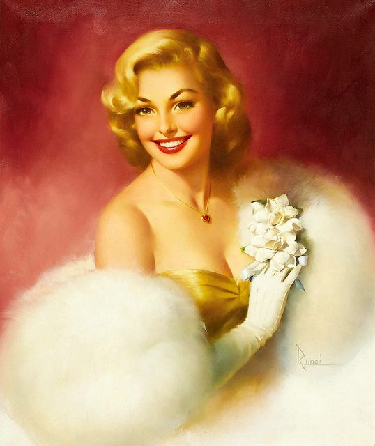 So resplendently pretty! #glamorous #vintage #pinup #art