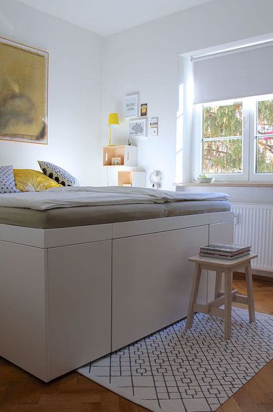 DIY Schrankbett Bett mit stauraum, Bett ideen, Schrankbett