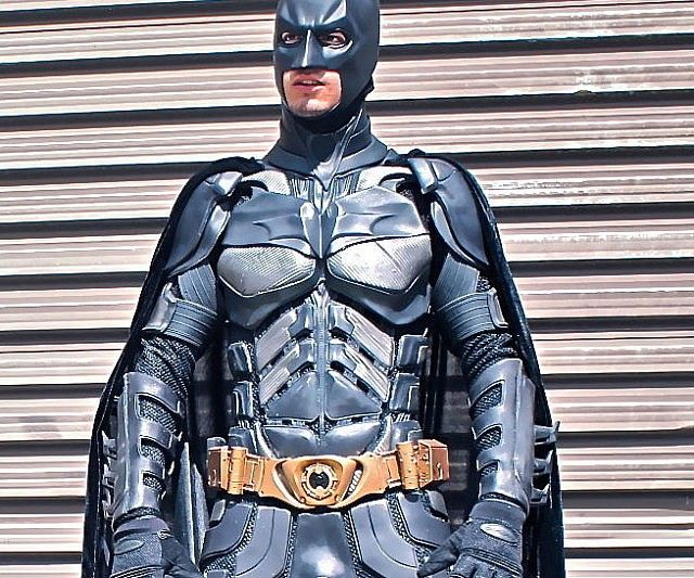 Become your city's very own symbol of hope by donning the Batman Dark Knight costume. This amazingly detailed costume is hand tailored and boasts all the body armor and accessories necessary to convincingly pull off the caped crusader look. I'M BATMAN.