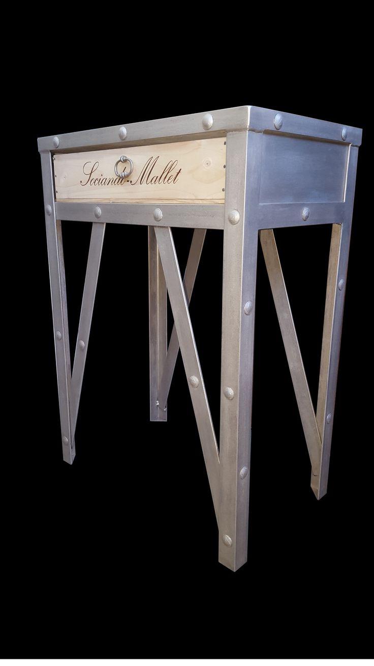 meuble caisse de vin, réalisation sur mesure  website : http://www.douelledereve.com/