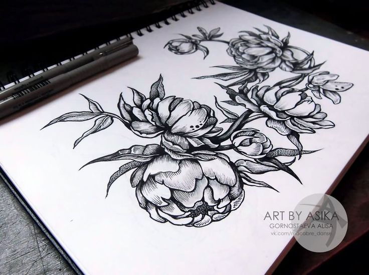 Black Line Flower Drawing : Flowers графика dudling pen girl blackandwhite blackline
