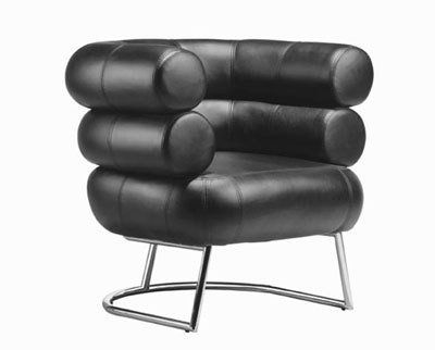 Eileen Gray's Bibendum chair paired the tubular steel of the Bauhaus Modernists with the exaggerated comfort of generous padded upholstery