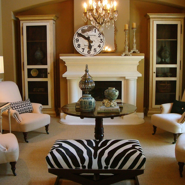 58 best brown couch images on pinterest interior for Living room decorating ideas zebra print