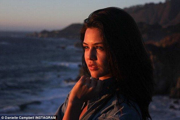 She's photogenic: The 20-year-old beauty - pictured in one of her Instagram snaps - stars in The Originals and has also starred in Prison Break