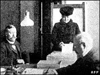 1906 - Finland becomes the first in the world to give women unrestricted rights both to vote and to stand for parliament.