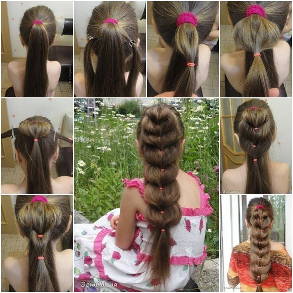 How to DIY Easy Heart Ponytail Hairstyle in 5 Minutes tutorial and instruction. Follow us: www.facebook.com/fabartdiy