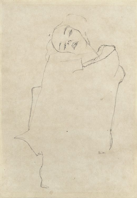 "Egon Schiele 1910 - ""To be beautiful means to be yourself. You don't need to be accepted by others. You need to accept yourself."" - Thích Nhất Hạnh"