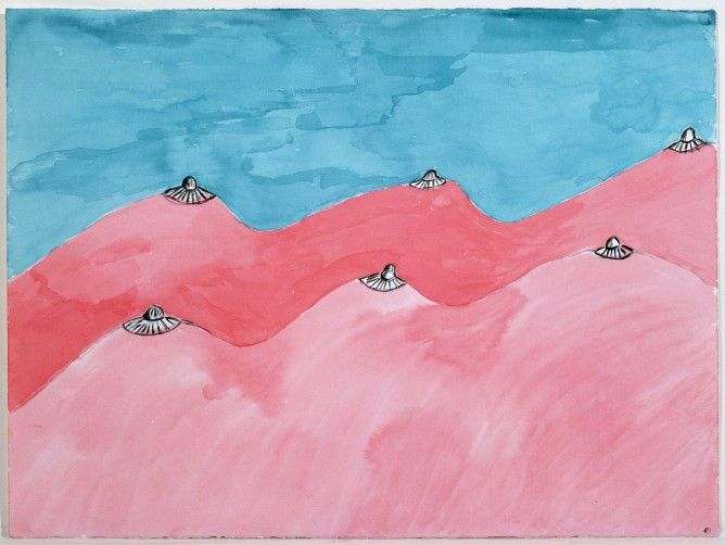 Louise Bourgeois, Untitled, 2004 – Watercolor, ink and pencil on paper