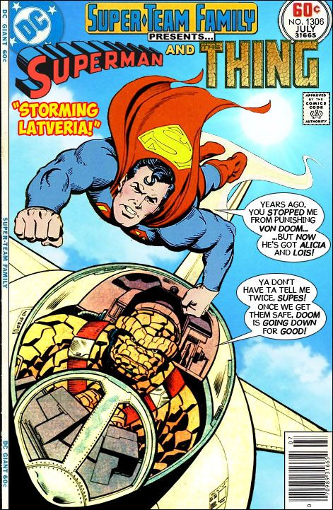 """Super-Team Family: The Lost Issues!: Superman and The Thing in """"Storming Latveria!"""""""
