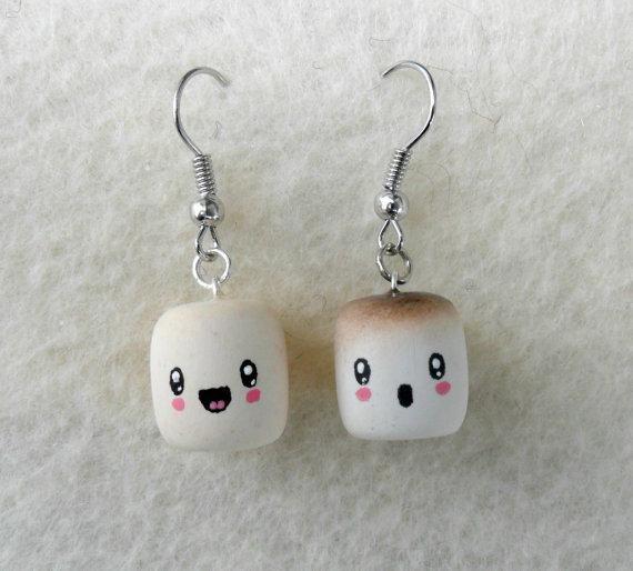 Encontre esto: 'Cute Kawaii Marshmallow Earrings' en Wish, ¡échale un ojo!