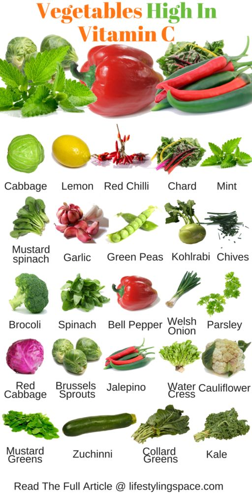which vegetables are high in vitamin c