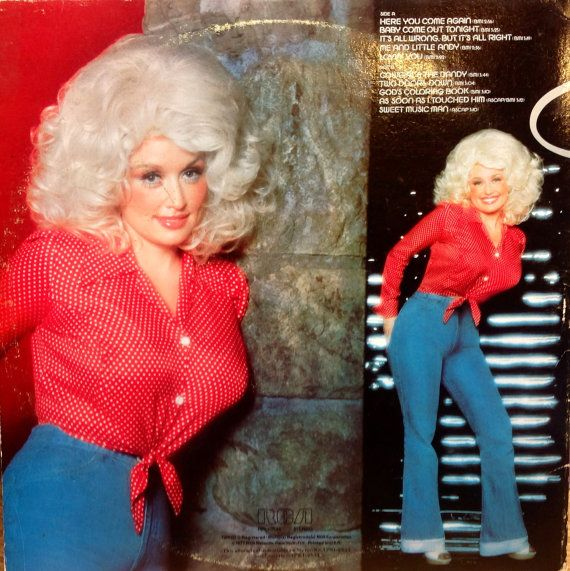 Glittered Vintage Dolly Parton Here You Come Again by TheDailyMuse