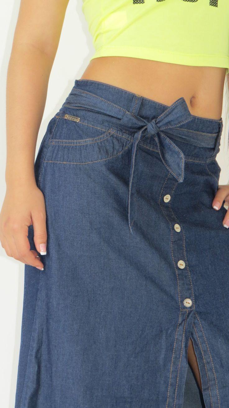falda en chambray